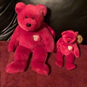"Other - Two Rare Ty Beanie Babies Valentina 8"" and 13"""